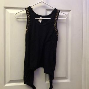 Tops - Open back tank top with gold studs